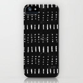 Black White Kuba iPhone Case