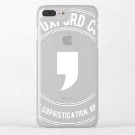 Team Oxford Comma Grammar Police Clever Unisex product Clear iPhone Case