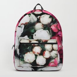 Flowers white and pink Backpack