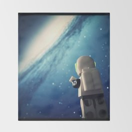 Neil in the galaxy Throw Blanket