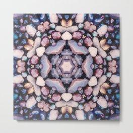 Colorful Circle of Stones Metal Print