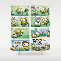 minion Shower Curtains featuring Minion by Duitk