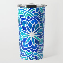 Mandala Iridescent Blue Green Travel Mug