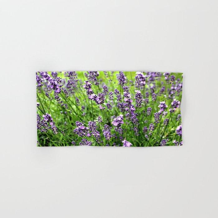 Lavender Plant Hand & Bath Towel