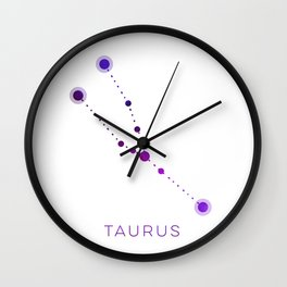 TAURUS STAR CONSTELLATION ZODIAC SIGN Wall Clock