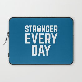 Stronger Every Day Gym Quote Laptop Sleeve