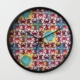 Crabs & Shells print Wall Clock