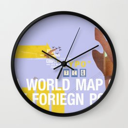 A World Map of Foreign Policy (book jacket cover) Wall Clock