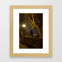 Lamp and Night Framed Art Print
