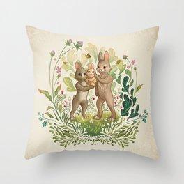 Lapins Throw Pillow