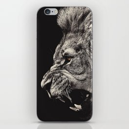 Angry Male Lion iPhone Skin