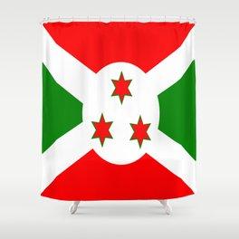 Flag of Burundi Shower Curtain