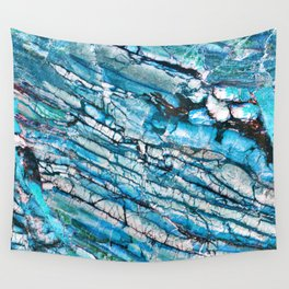 Blue Marble with Black Wall Tapestry
