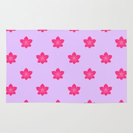 Pink orchid pattern Rug