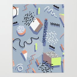 Custom Multicolor Geometric Pattern Poster