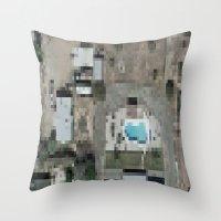 las vegas Throw Pillows featuring Las Vegas by Mark John Grant
