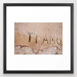 Ti Amo - I love you - Graffiti  Framed Art Print