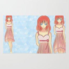 Anime Japanese Art Style Fashion Illustration Rug