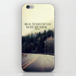 WINDING ROADS ON HWY 101  iPhone Skin