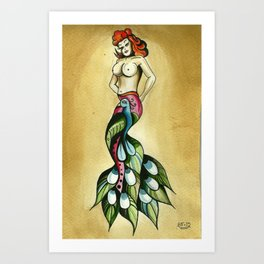 Cocky Lady  Art Print