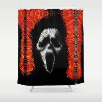 scream Shower Curtains featuring Scream by brett66
