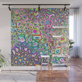 Colorful Synaptic Channels Wall Mural