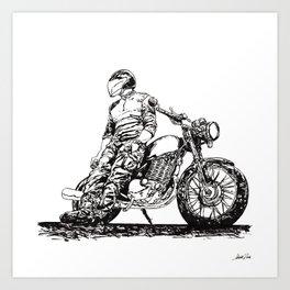 Rider 8 RAW Art Print