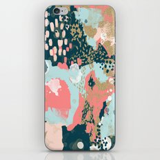 Eisley - Modern fresh abstract painting in bright colors perfect for trendy girls decor college iPhone & iPod Skin