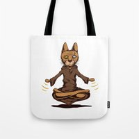 jedi Tote Bags featuring Jedi cat by Toms Tomsons