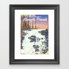 Slough Creek Yellowstone national park Framed Art Print