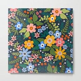 Floral print. Bright flowers. Metal Print