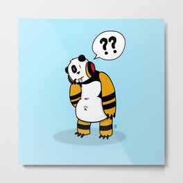 Bear :: The Question Metal Print