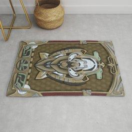 Claddagh Hawk - Celtic Inspired Art Deco Rug