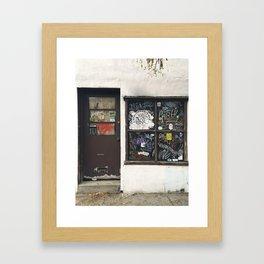 Fishtown Door and Window Graffiti Framed Art Print