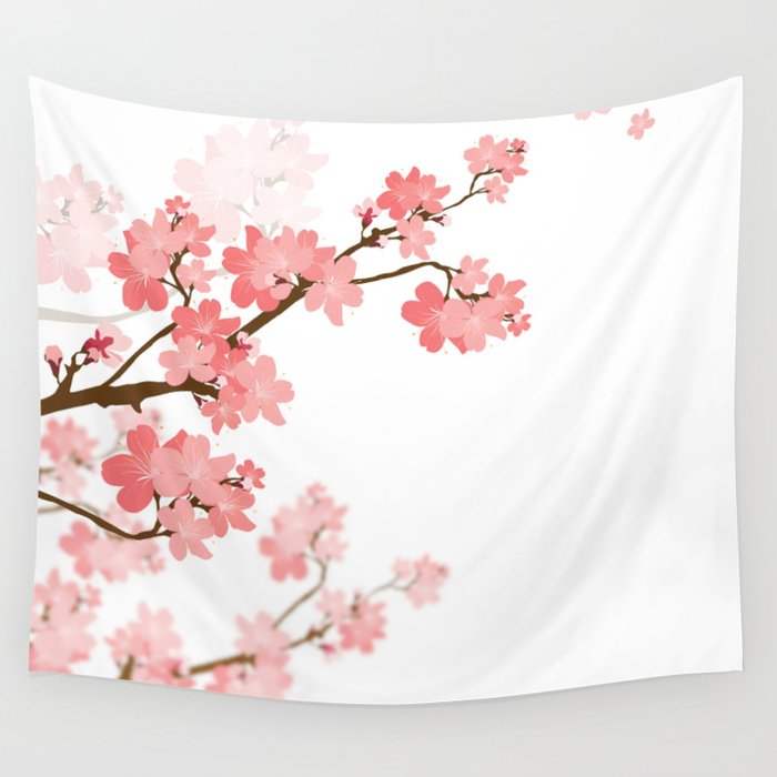 Cherry Blossom Wall Tapestry By Naturez