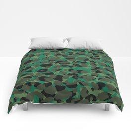 Emerald Leopard Spots Comforters
