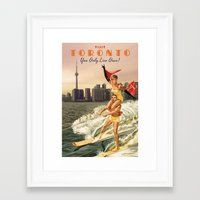 toronto Framed Art Prints featuring TORONTO by Ads Libitum