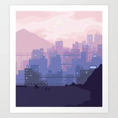 Sleeping City Art Print