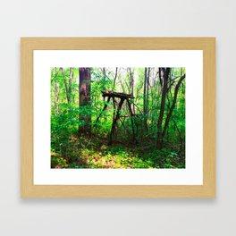 Monster in the Woods Framed Art Print