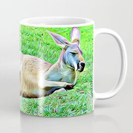Sleepy Kangaroo Coffee Mug