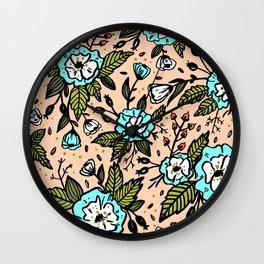 Botanical paint abstract Wall Clock