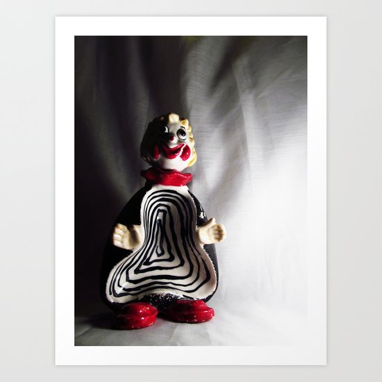Death Spiral Ashtray Clown Art Print