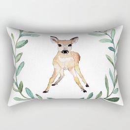 Deer Wreath Rectangular Pillow