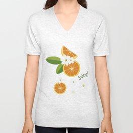 Orange blossom Unisex V-Neck