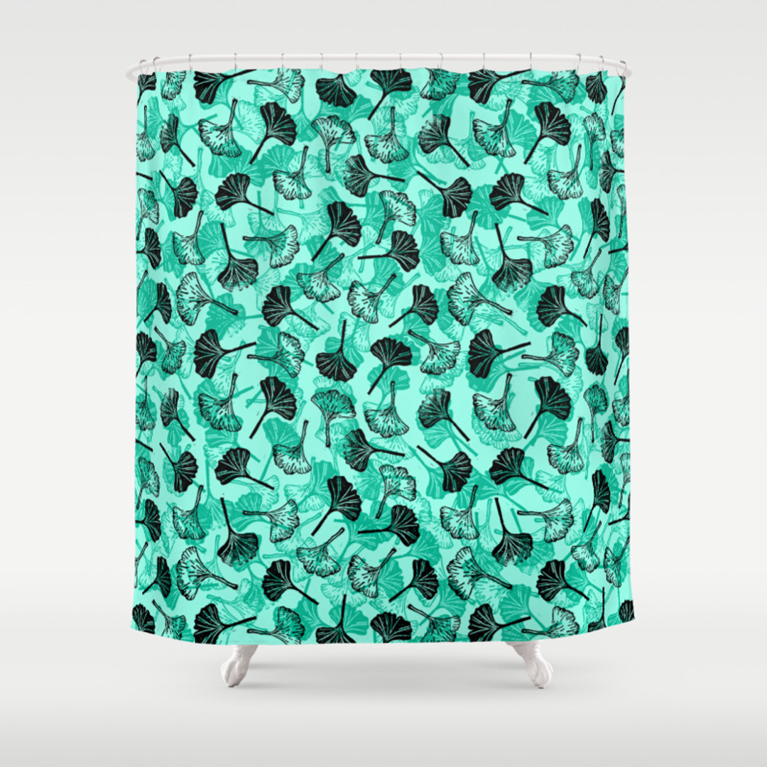 mint green shower curtain.  Blue and Mintgreen Shower Curtains Society6