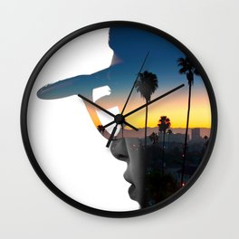 LA Portrait Wall Clock