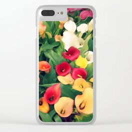 Rainbow Calla lily Clear iPhone Case