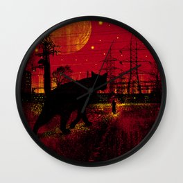 Cleo in the Dark Wall Clock