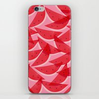 georgiana paraschiv iPhone & iPod Skins featuring Watermelon by Georgiana Paraschiv