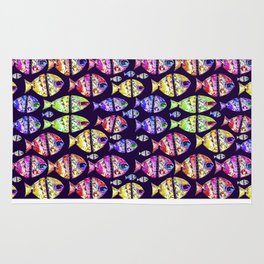 Colorful Fishes Pattern Design Rug